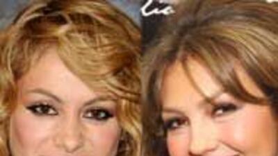 Paulina Rubio y Thalía no se reconciliaron durante Premio Lo Nuestro baa...