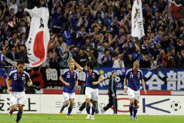 El único gol del partido lo marcó el delantero Okazaki, ap...