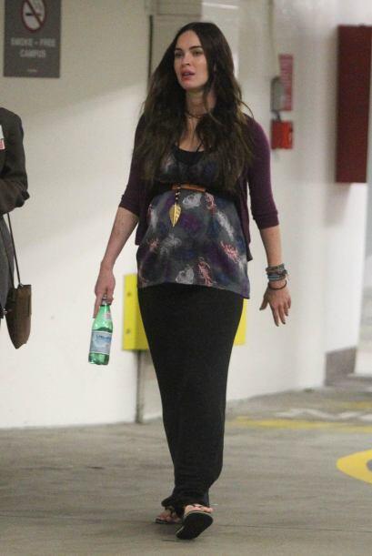 Ya en las últimas semanas de embarazo, Megan Fox lucía un...