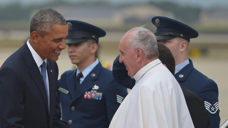 Barack Obama recibe en Washington a Francisco.