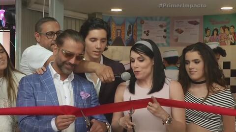 Alejandro Fernández Jr. inauguró tienda de donas en Jalisco