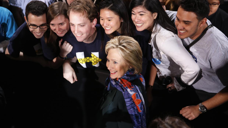 Clinton este sábado en Las Vegas