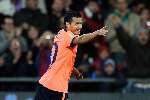 Pedro Rodríguez aprovechó un descuido de la zaga rival y convirtió el 3-0.