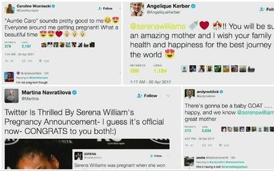 El mundo del tenis se volcó a las redes para felicitar a Serena Williams...