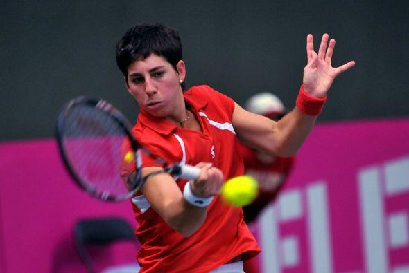 La española Carla Suarez Navarro venció a su compatriota Silvia Soner Es...