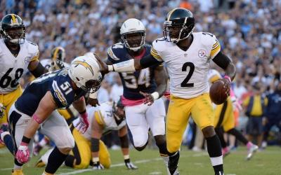 Michael Vick logró sacar la victoria para los Steelers en los últimos mo...