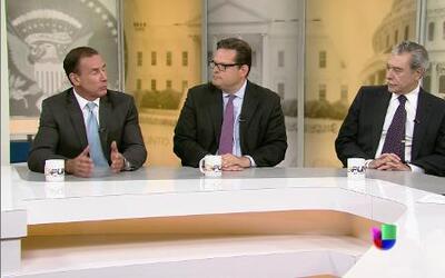 Carlos Gutiérrez, Adolfo Franco y Alfonso Aguilar en Al Punto