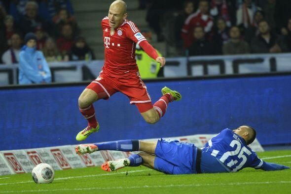 Con 10 goles y seis asistencias hasta el momento, Arjen Robben ha sido f...