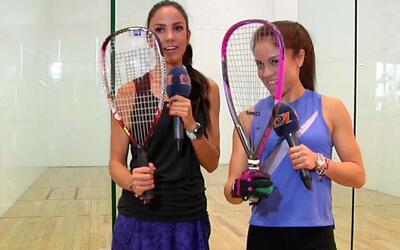 Clases de ráquetbol con la hermosa Paola Longoria, la mejor jugadora de...
