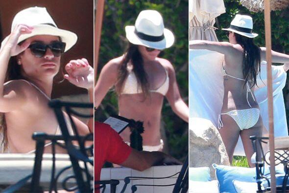 Las cámaras de los paparazzi siguieron a la estrella de 'Glee' en su des...