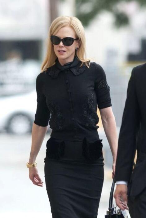 Nicole Kidman fue una de las estrellas que acudió a dar el último adiós....