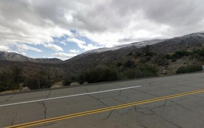 Autopista 74 en las montañas de Sana Rosa, donde se accidentó el Porsche.