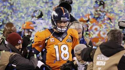 Peyton Manning no sintió vergüenza por la abultada derrota (AP-NFL).