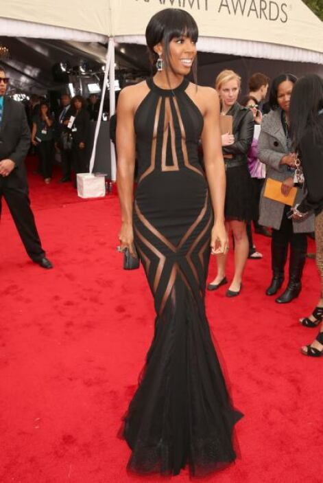 "La reveladora vestimenta de Kelly Rowland tapó sus ""partes nobles"", aunq..."