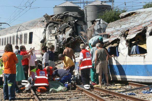 En 2006 un tren que hacía el recorrido La Coruña-Hendaya d...
