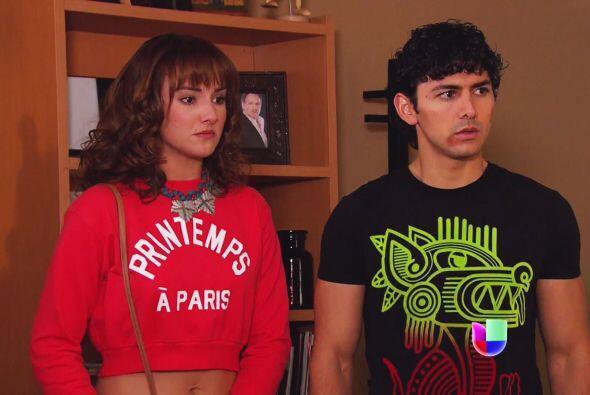 Daniela y Lucas decidieron enfrentarla y decirle la verdad sobre su amor...