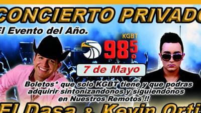 ¡KGBT98.5 trae para ti en exclusiva a El Dasa y Kevin Ortiz en un conci...