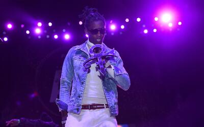 ATLANTA, GA - MAY 05: Young Thug performs at Pandora Presents: The ATL a...