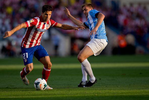La media cancha del Atlético de Madrid vio la partida de Diego Ri...