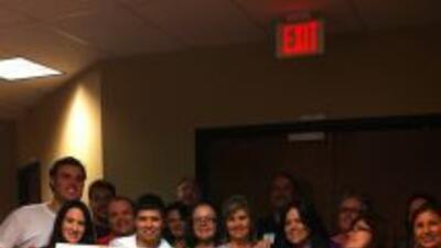 Todo el equipo de Univision Radio en Miami en la clausura del radio mara...