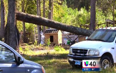 Vecinos de Lumber Bridge piden apoyo tras el paso del huracán Matthew