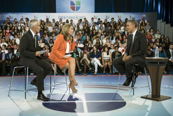 20 de septiembre. En un Encuentro con Univision, el presidente Barack Ob...
