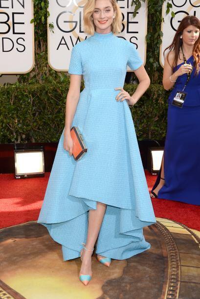 La estructura del vestido de Caitlin Fitzgerald fue de los más ho...