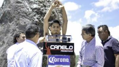Guerrero no tuvo problemas con la báscula (Foto: Canelo Promotions)