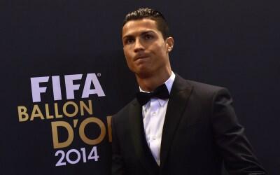 Cristiano Ronaldo durante la gala del Balón de Oro 2014