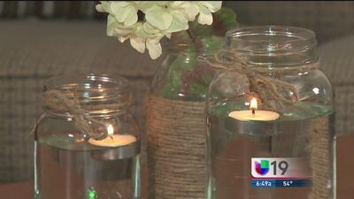Decora tu hogar con un florero y unas velas flotantes