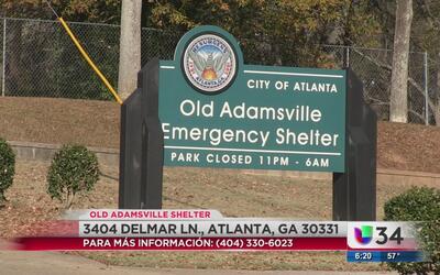 Abren refugio para protegerse del frío en Atlanta