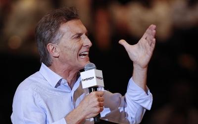 Mauricio Macri en un acto de campaña.