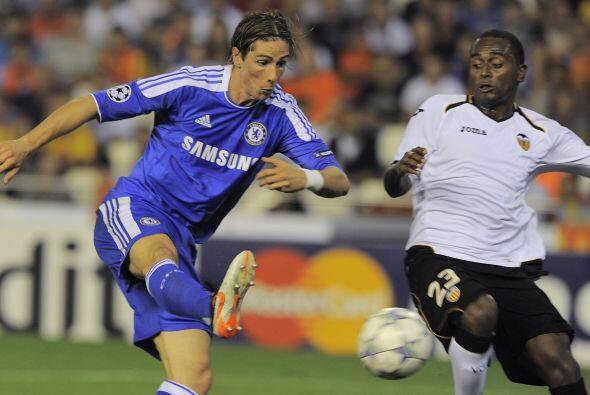 Fernando Torres tuvo oportunidad de marcar.