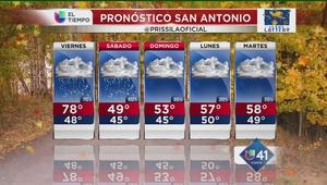 Lluvia y temperaturas bajas en SA