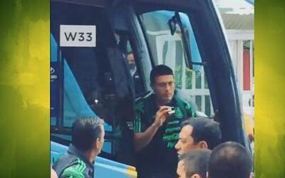 ¡Qué emoción! Ya llegó la selección de México a Fortaleza para su partid...