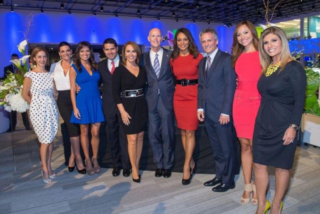 A la inauguración acudió parte del equipo que hace posible que Univision...