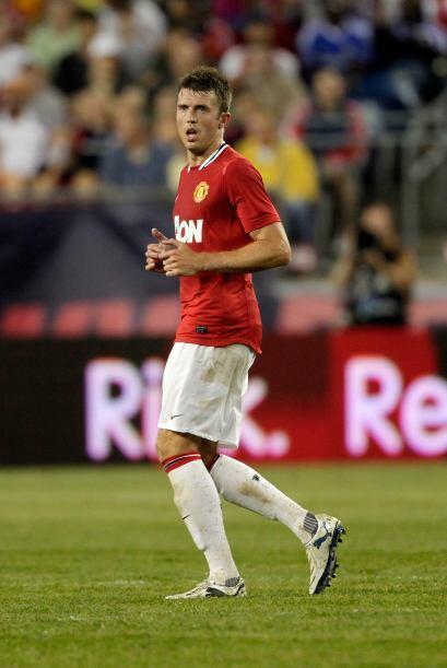 Tenemos a Michael Carrick, jugador del Manchester United.
