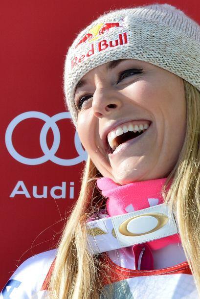Lindsey Vonn ganó la prueba de descenso el domingo en la Copa del...