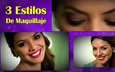 Laura Sierra te enseña 3 diferentes estilos de maquillaje para todos los...