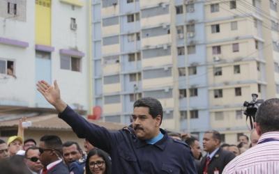 Maduro en acto de campaña
