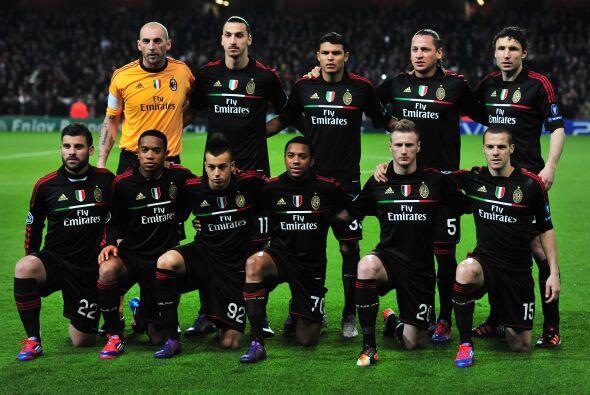 El Milán, siete veces campeón de la Copa de Europa, acude...