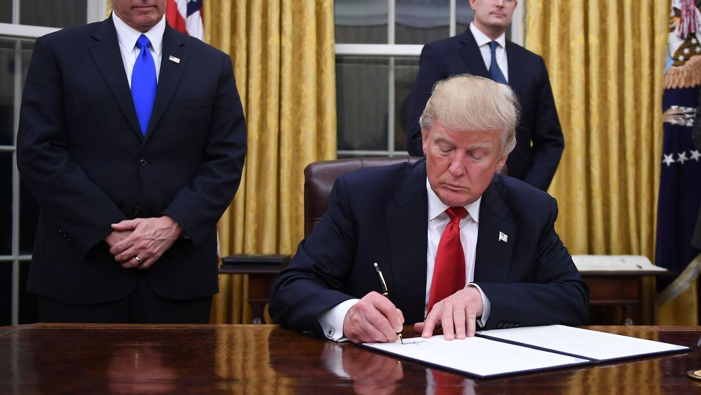 Trump despacho