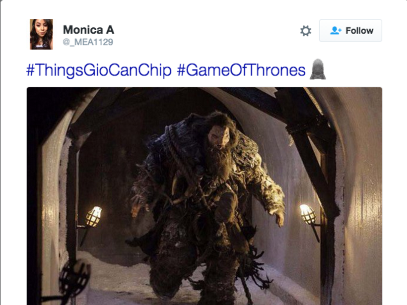 #ThingsGioCanChip hashtag meme