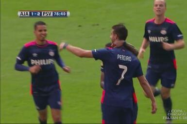 Ajax 1-2 PSV Eindhoven: El uruguayo Pereiro decidió el clásico holandés...