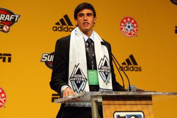 Omar Salgado fue el primer jugador elegido en el Superdraft. Es delanter...