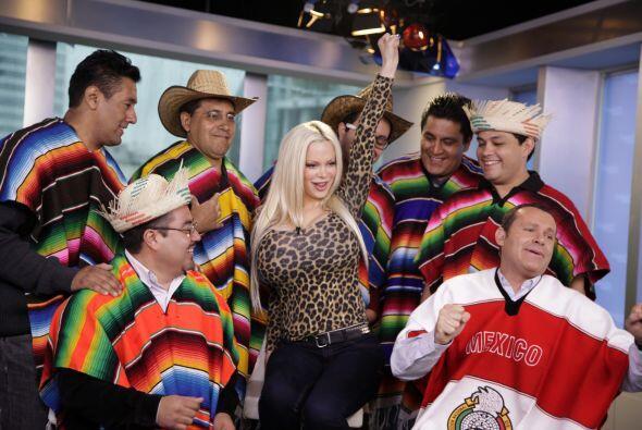 """Sabrina se divirtió mucho con nuestros """"Paparrines mexicanos""""."""