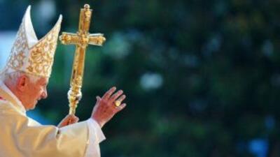 """El papa Benedicto XVI ofició una misa en la plaza """"Antonio Maceo"""" en Cuba."""