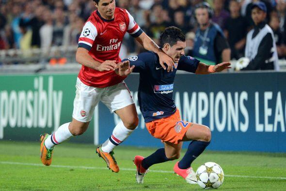 El Montpellier recibió al Arsenal en un partido donde os franceses se pu...