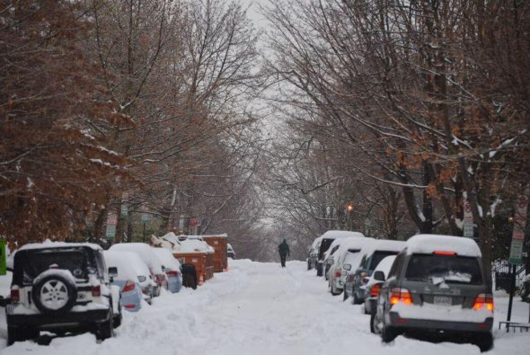 Calles y avenidas permanecen cubiertas de nieve y frío.