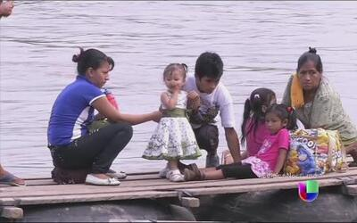 Cómo cruzan los niños migrantes de Guatemala a México